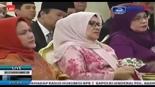 JOKOWI JK Tertawa Lucu Saat Dengar Ceramah KH Ahmad Hasyim Muzadi Dalam Acara Maulid Nabi