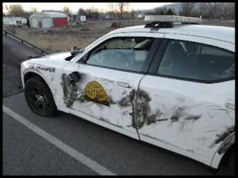 UHP Vehicle Sideswiped  Semi