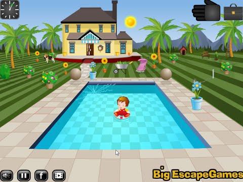 малыш прохождение побег из бассейна трать время поиск