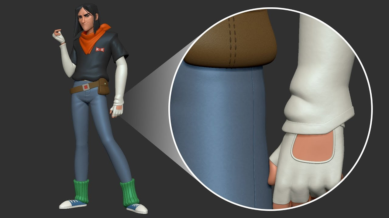 A Quick And Easy Way To Sculpt Seams In ZBrush