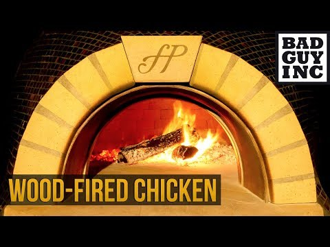 Relax while the chicken cooks in the wood-fired oven...