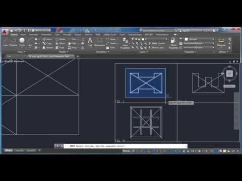 AutoCAD Center Objects, Move Tool, and Text