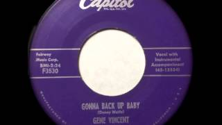 Watch Gene Vincent Gonna Back Up Baby video
