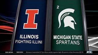 Illinois at Michigan State - Men's Basketball Highlights