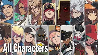 Guilty Gear Strive - All Characters Trailers Initial Roster [HD 1080P]