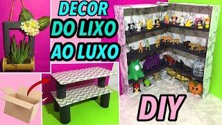 DIYs DO LIXO AO LUXO IDEIAS PARA FAZER EM CASA SEM GASTAR MUITO | Ft: Jessika Taynara
