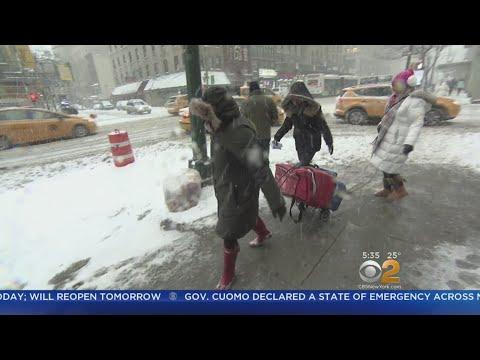 'Meals On Wheels' Employees Deliver Food Despite Winter Blast