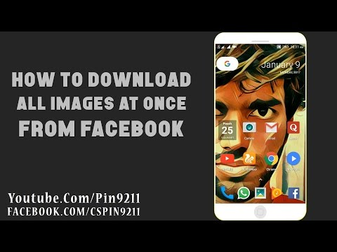 How To Download All  Images at Once From FACEBOOK PAGE - Tutorial