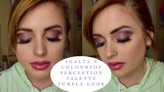 SHAYLA x COLOURPOP PERCEPTION PALETTE | Purple and Magenta Eye Look