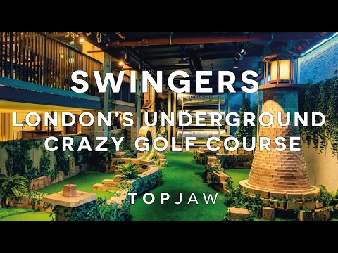 HUGE UNDERGROUND CRAZY GOLF COURSE IN LONDON - SWINGERS