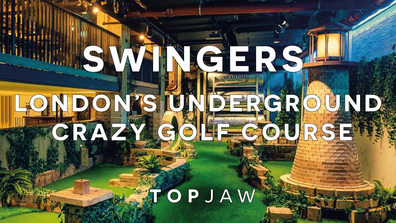 Huge Underground Crazy Golf Course In London Swingers
