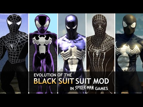 "Evolution Of The ""Black Suit"" Mods In Spider-Man Games! (2000-2014)"