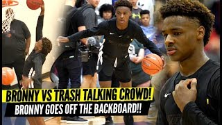 Download Bronny James QUIETS Trash Talking Crowd & Overrated Chants!! Goes OFF THE BACKBOARD!? Mp3 and Videos