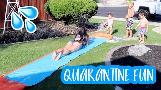 WE BROUGHT OUT OUR SLIP N SLIDE!!
