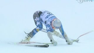 Bode Miller finishes with a crash in GS  - from Universal Sports
