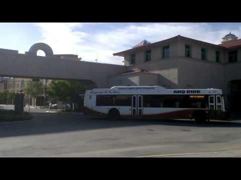 A FEW BUSES ENTERING ALVARADO TRANSPORTATION CENTER ALBUQUERQUE NEW MEXICO