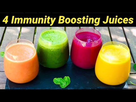 4 Immunity Boosting Juices | 4 Detox Juice Recipes for Healthy Skin & Digestion | Healthy Juices