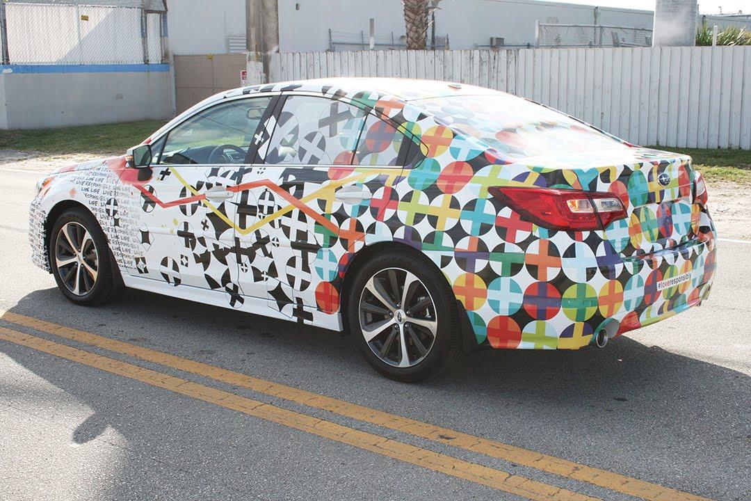 Subaru Custom Car Wrap Art Basel Miami Florida Car Wrap