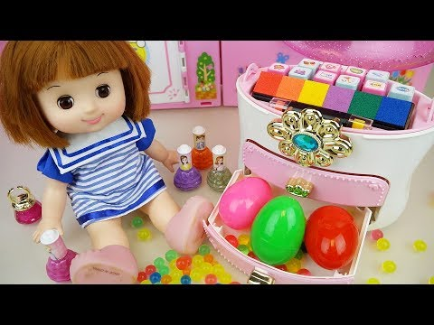 Thumbnail: Baby doll color stamp drawer and surprise eggs mart toys play