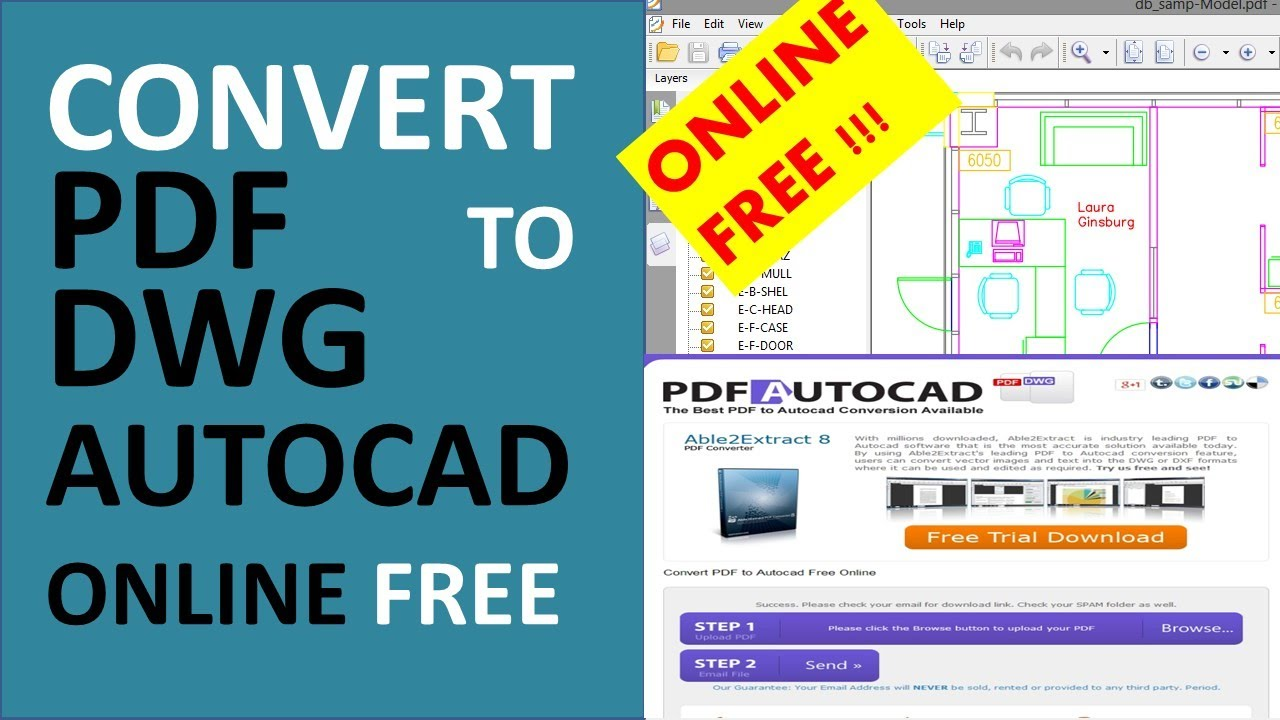 how to convert pdf to dwg autocad online free