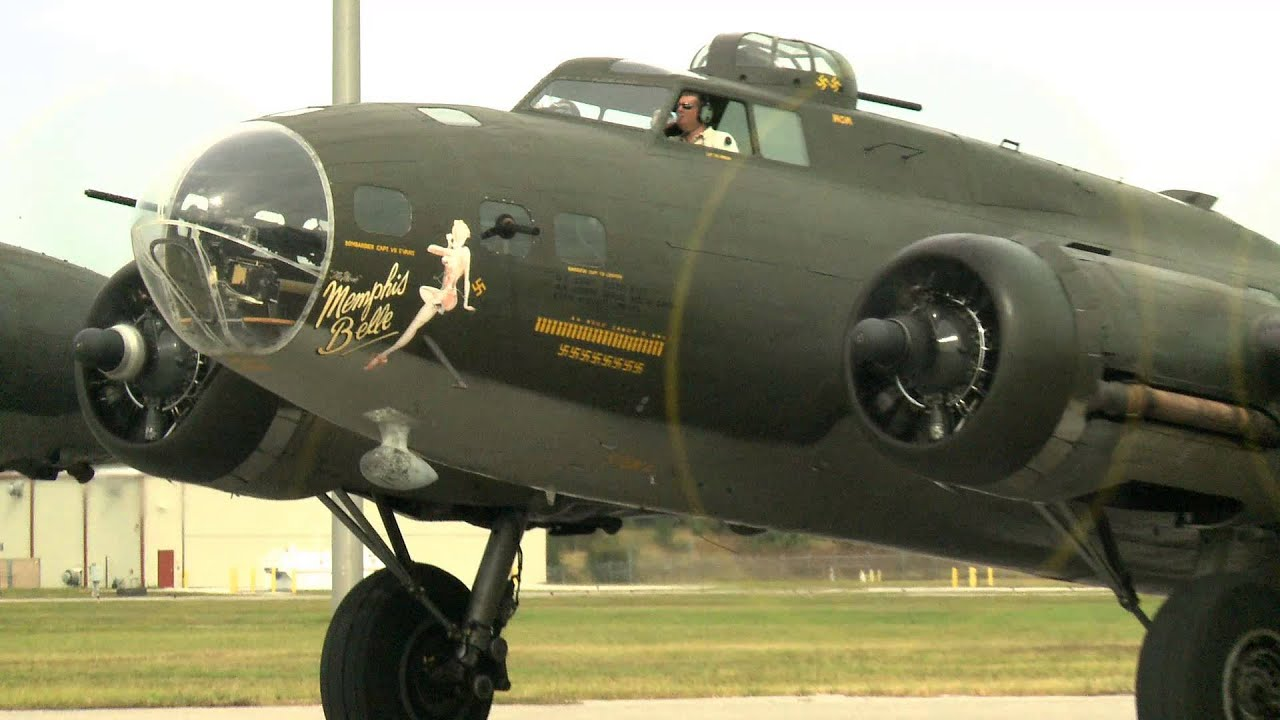 Flight on the B-17 Flying Fortress, 'the Memphis Belle' with veteran William Yepes