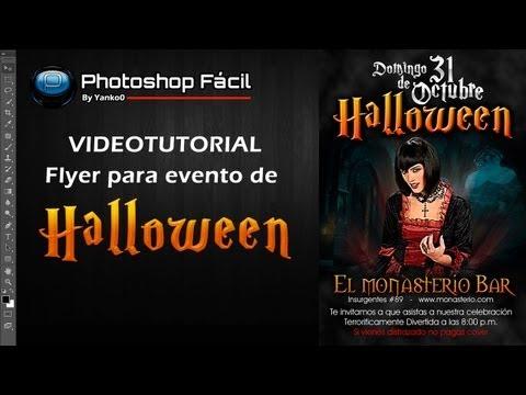 Flyer Para Evento De  Halloween Photoshop Yanko0