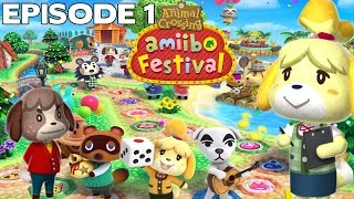 Let's Play Episode 1 : ANIMAL CROSSING AMIIBO FESTIVAL FR Nintendo Wii U