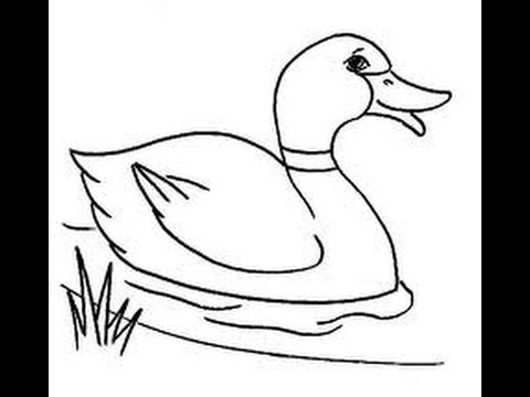 crayon drawing duck