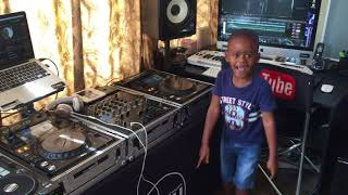 DJ Arch Jnr Playing a New South African Hit Song From Dj Shimza and Dj Maphorisa - Make (5yrs Old)