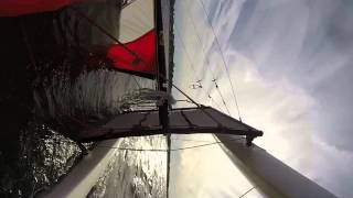 Hobie 16 Solo Sailing and Capsize