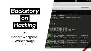 Backstory on Hacking with bandit wargame walkthrough