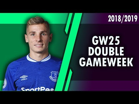 DOUBLE GAMEWEEK 25 - TRANSFER OPTIONS #FPL 2018/2019!