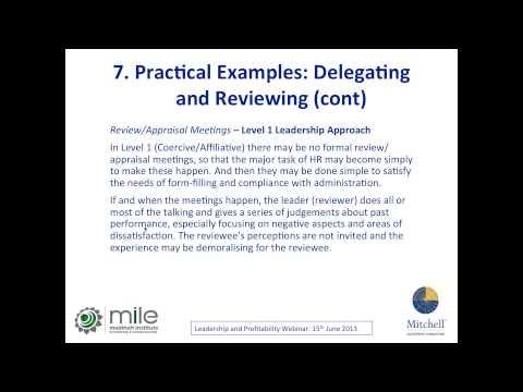 Leadership Style and Profitability by John Mitchell | MILE Webinar