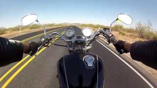 GoPro: 1995 Yamaha Virago 750 - Speeding on Yarnell Hill, AZ
