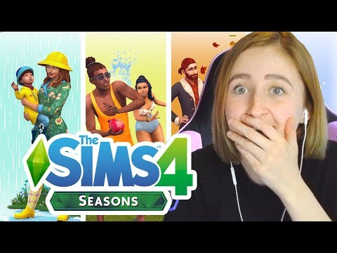 REACTING TO THE SIMS 4: SEASONS ANNOUNCEMENT (i actually cried lol)