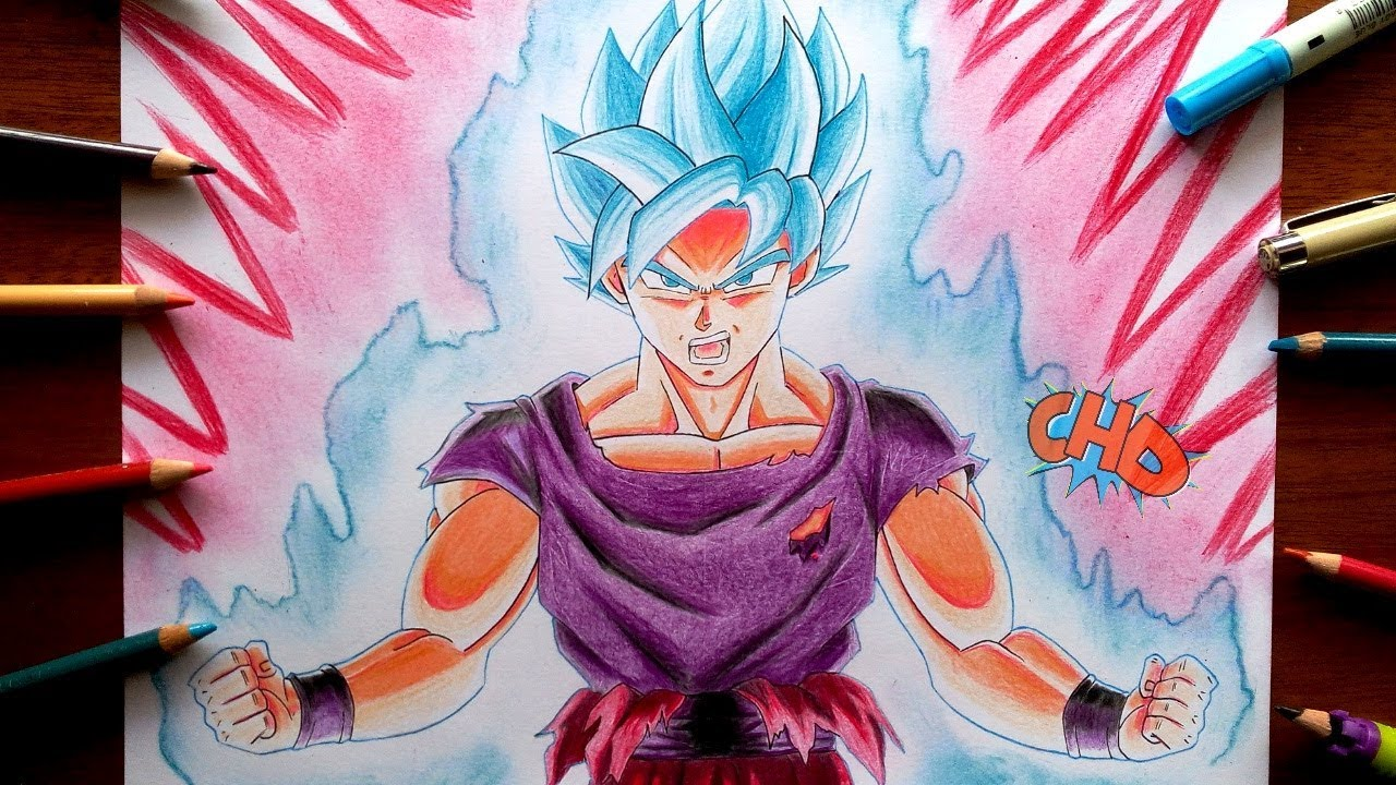 Como Dibujar A Goku Ssj Blue Kaioken X10 How To Draw Goku Super