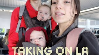 Teen Mom LA Travel Vlog w/ TWINS l Vlogmas day 1?!