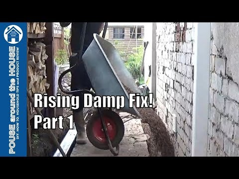 How to fix rising damp & penetrating damp - (PART 1). Lower floor, remove render.