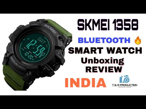 SKMEI 1358🔥 BLUETOOTH SMART WATCH || UNBOXING And REVIEW 2019