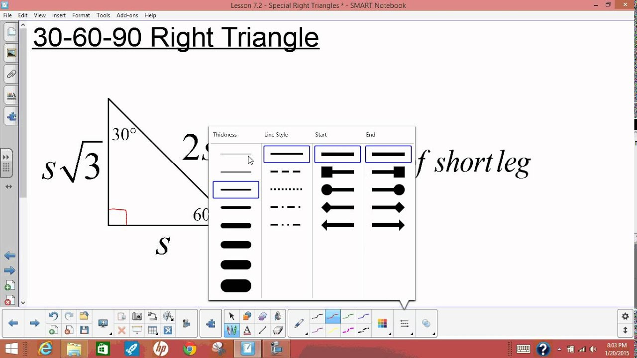 Lesson 7 2 Special Right Triangles