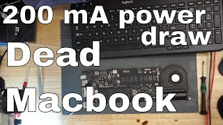 Why is Macbook Pro Retina taking 200mA and not turning on?