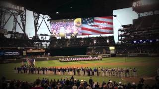 National Anthem at Seattle Mariners vs. Texas Rangers Baseball Game