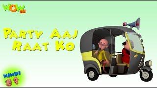 Party Aaj Raat Ko |  Motu Patlu in Hindi WITH ENGLISH, SPANISH & FRENCH SUBTITLES