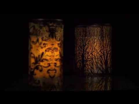Lace Laser-Cut Metal Luminary with LED Candle by Candle Impressions