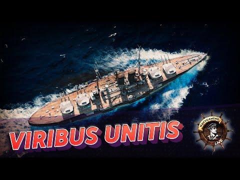 World Of Warships ✽ Viribus Unitis. Новый линкор в игре! ✽ Navygaming