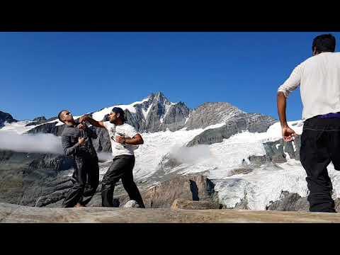 Alpine Wrestling in Slow Mo