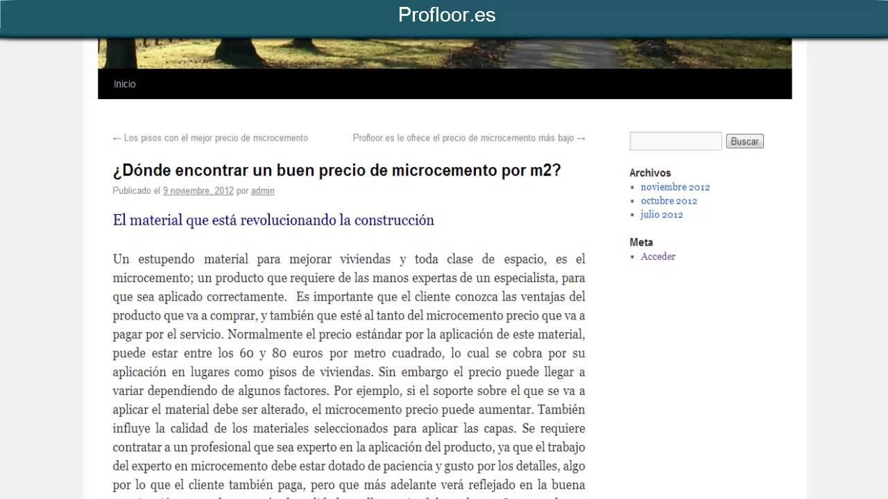 D nde encontrar un buen microcemento precio por m2 youtube - Microcemento precio m2 ...