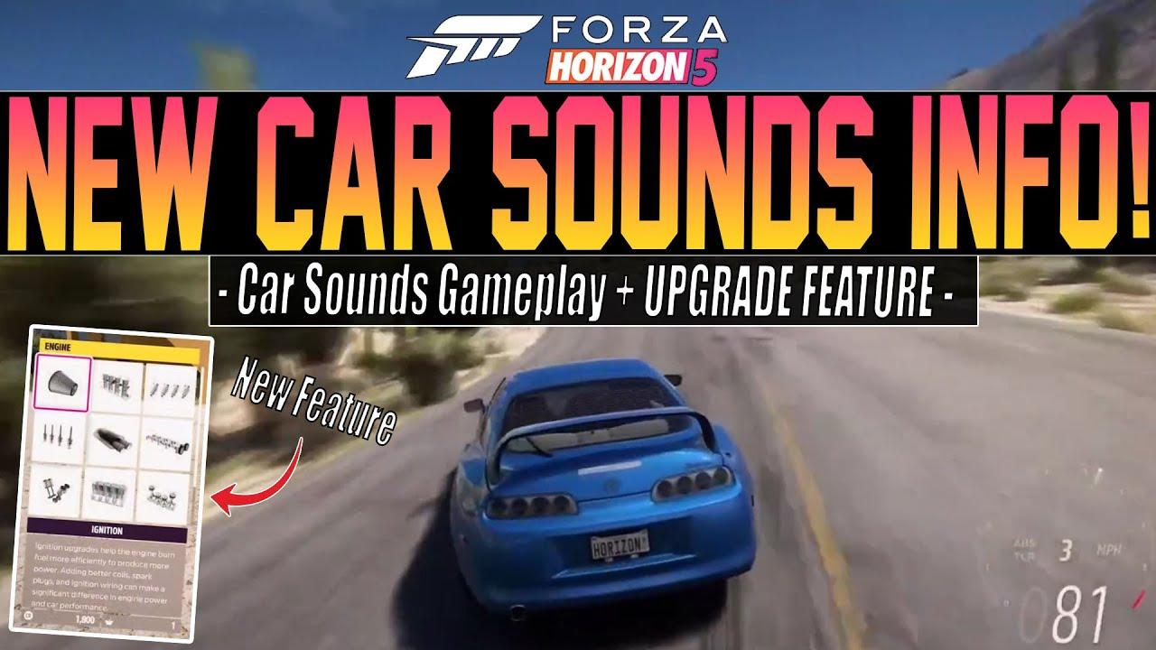 Forza Horizon 5 - New Car Sounds INFO + Upgrade Feature! - Stream Recap #3