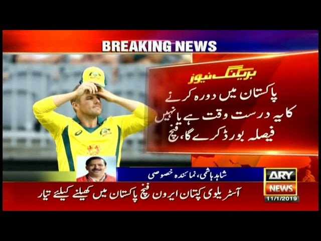 Finch, Khawaja have no reservations to play in Pakistan