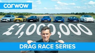 £1M DRAG RACE series for our one million subscribers | carwow